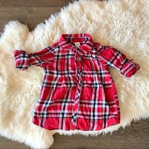 4/$20 George Red plaid flannel long sleeve top